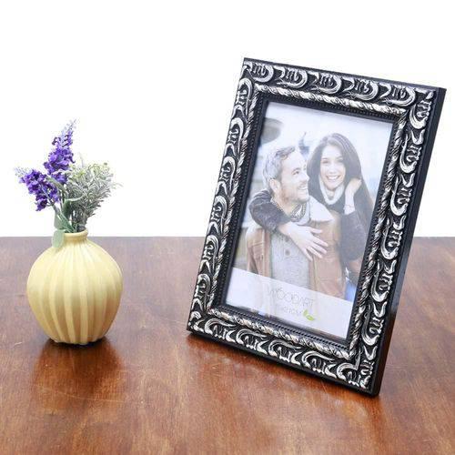 Porta Retrato Elegance Preto e Prata 10X15 - F9-11876