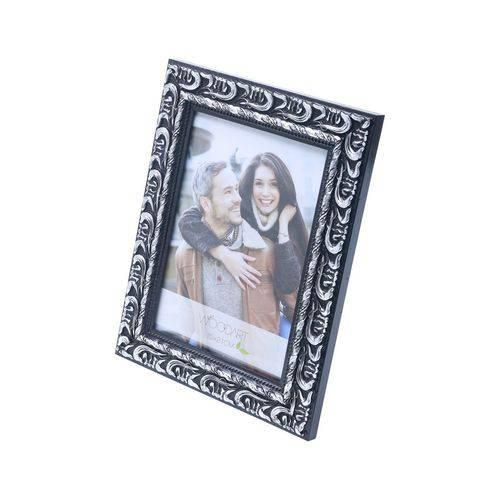 Porta-Retrato Elegance Preto e Prata 10X15