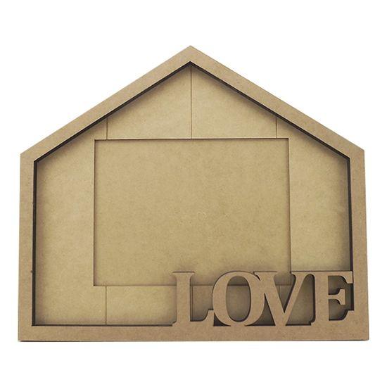 Porta Retrato em MDF Casa Love 30x35cm - Palácio da Arte