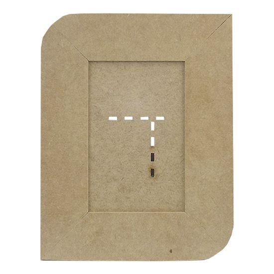 Porta Retrato em MDF 23,2x18,1cm Simples Redondo - Palácio da Arte