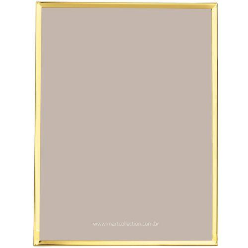 Porta Retrato em Metal Dourado 15x20cm