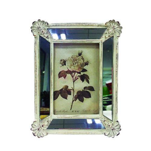 Porta-retrato Espelhado 10x15 Branco Antigo