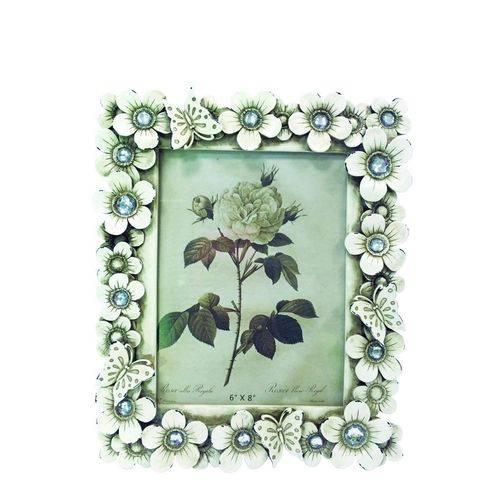 Porta-retrato Florido 15x20 Branco Antigo