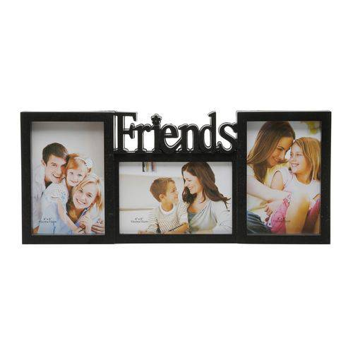 Porta Retrato Friend Preto 10x15cm