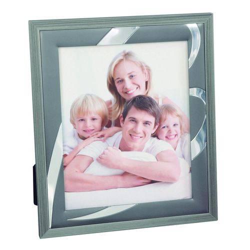 Porta-retrato Granito 20x25 Cinza e Madeira