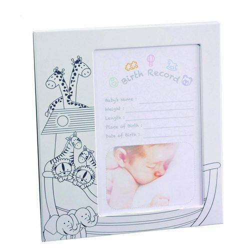 Porta-retrato Infantil 10x15 Branco e Prata