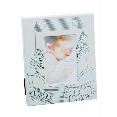 Porta-retrato Infantil 6x8 Branco e Prata