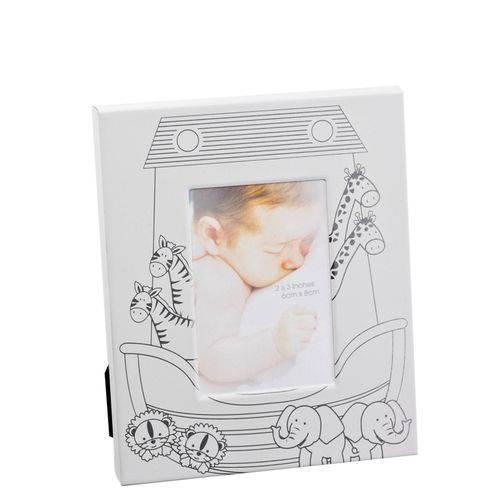 Porta Retrato Infantil Branco/prata Dayhome Fotografia APR566