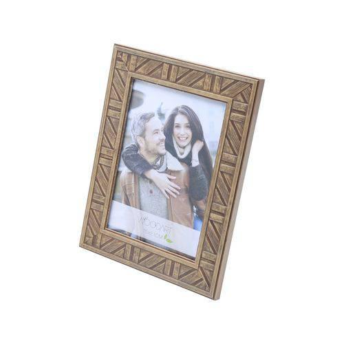 Porta Retrato Listrado Marrom 20x25
