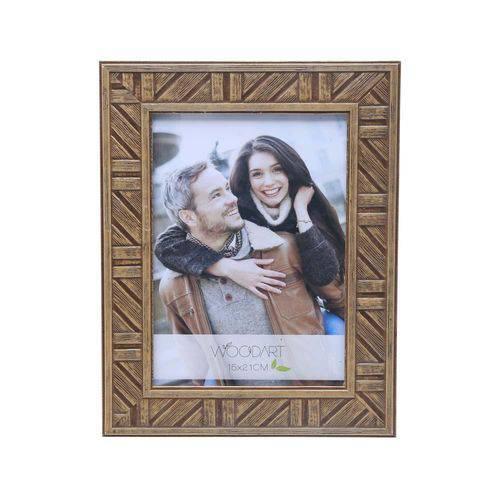 Porta Retrato Listrado Marrom 10X15 - F9-11845