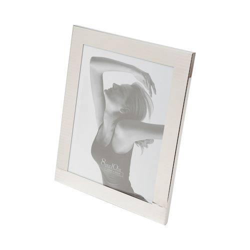 Porta Retrato Listras Prateado 10x15cm