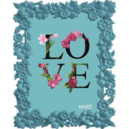 Porta Retrato Love 5513 10x15 Azul Mart