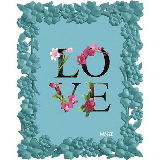 Porta Retrato Love 5514 13x18 Azul Mart