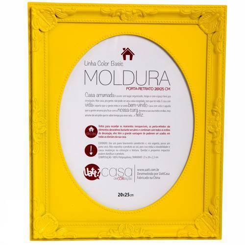 Porta Retrato Moldura 20x25 - Amarelo