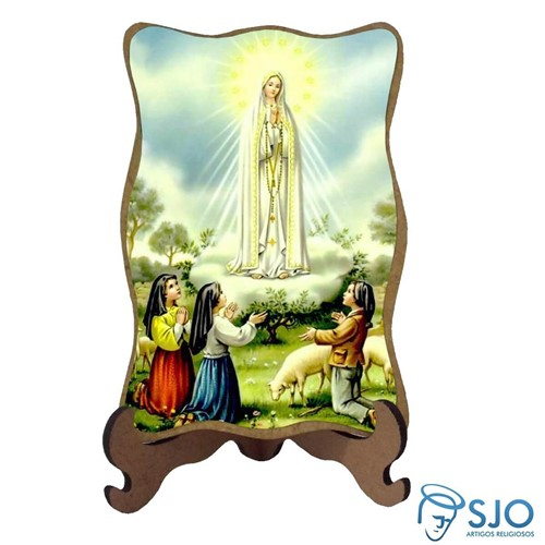 Porta-Retrato Nossa Senhora de Fátima   SJO Artigos Religiosos