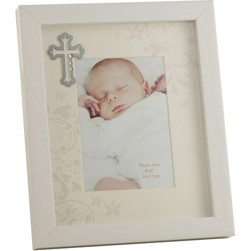 Porta Retrato Off White 10X15 Baptisum Day 3727 Lyor