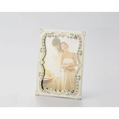 Porta Retrato Perolas Strass 10 X 15 Cm