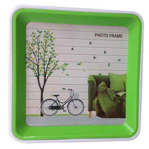 Porta Retrato Plastico Frente e Verso 17.5x17.5x3cm