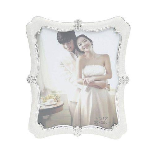 Porta Retrato Plástico Perolado 20cmx25cm Rojemac Branco
