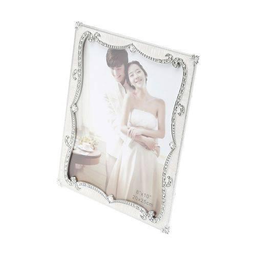 Porta Retrato Plastico Perolado com Strass 10 X 15cm