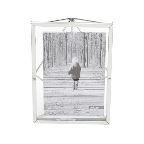 Porta Retrato Prata Aramado 10X15CM