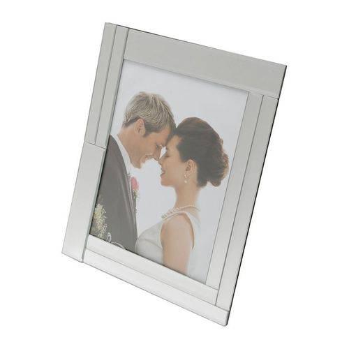 Porta Retrato Prata para 1 Foto 10x15cm Euno Prestige