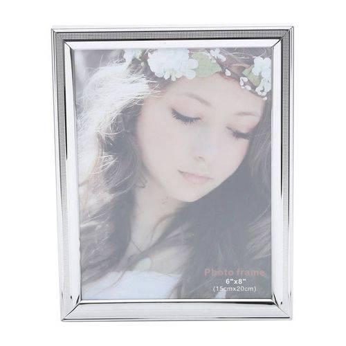 Porta Retrato Prata para 1 Foto 10x15cm Family Prestige