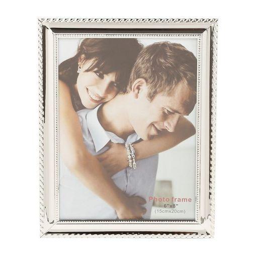 Porta Retrato Prata para 1 Foto 10x15cm Knot Prestige