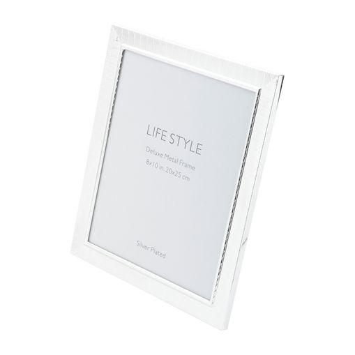 Porta Retrato Prata para 1 Foto 10x15cm Life Prestige