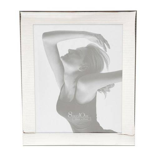 Porta Retrato Prata para 1 Foto 10x15cm Lord Prestige