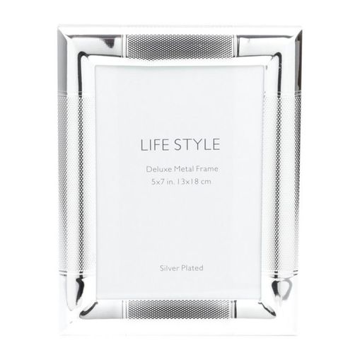 Porta Retrato Prata para 1 Foto 10x15cm Paris Prestige
