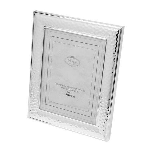 Porta Retrato Prata para 1 Foto 13x18cm Zeltzin Prestige