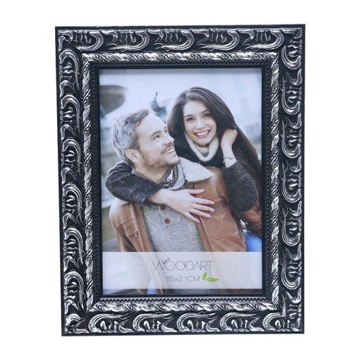 Porta Retrato Prata para 1 Foto 10x15 Elegance Woodart