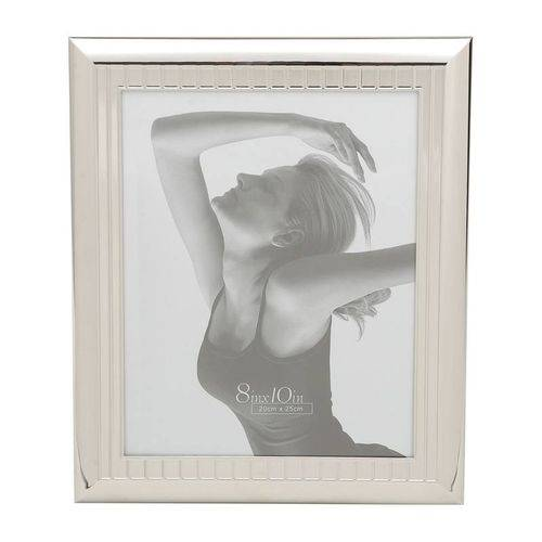 Porta Retrato Prata para 1 Foto 13x18cm Roy Prestige