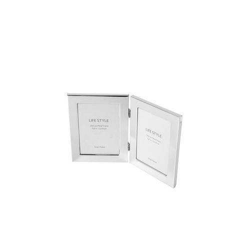 Porta Retrato Prata para 2 Fotos 13x18cm Duos Prestige
