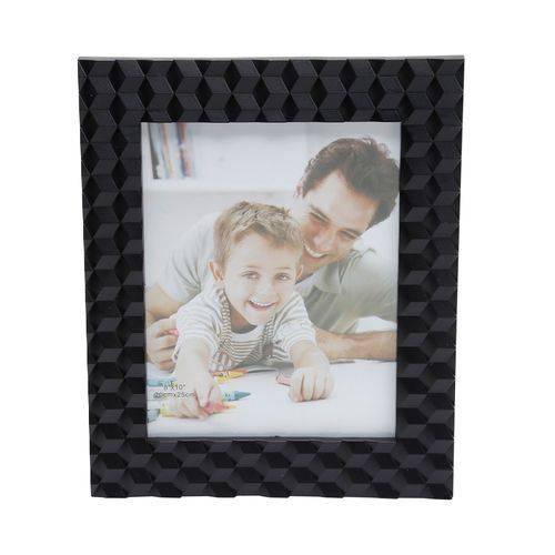 Porta Retrato Preto de Plastico 13 X 18cm -30168