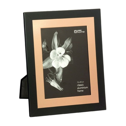 Porta Retrato Preto e Dourado 15x20 - Occa Moderna