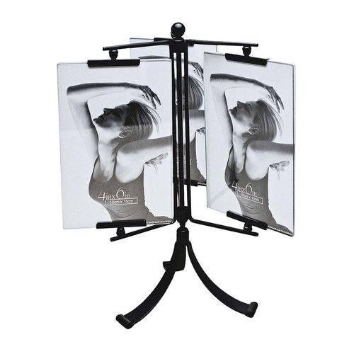 Porta Retrato Preto para 6 Fotos