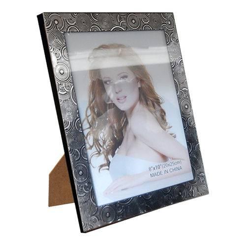 Porta Retrato Preto Plástico 20x25cm