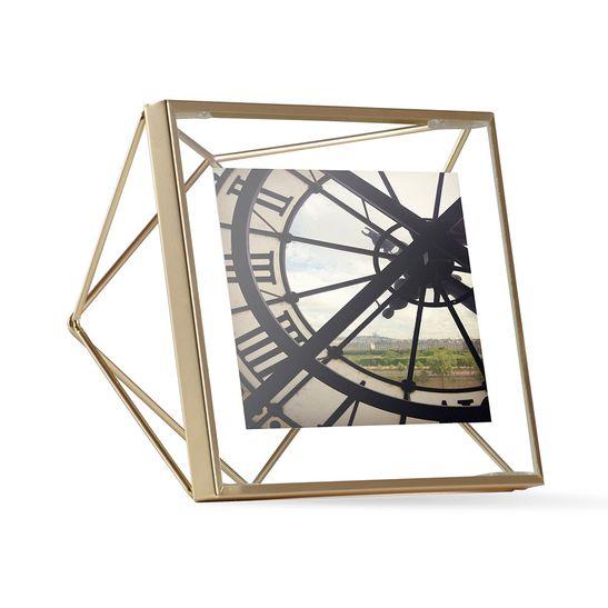 Porta Retrato Prisma 10X10 Cm Dourado Umbra