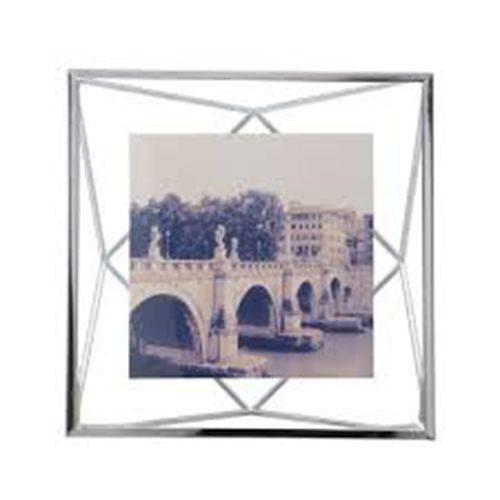 Porta Retrato Prisma 10x10cm Cromado - Umbra