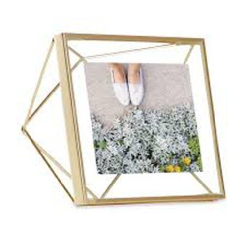 Porta Retrato Prisma 10x10cm Dourado - Umbra