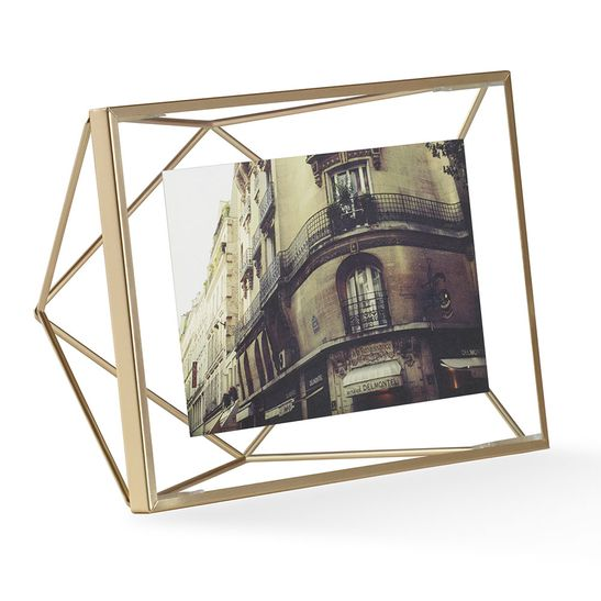 Porta Retrato Prisma 10X15 Cm Dourado Umbra