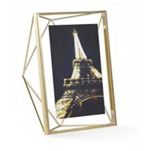 Porta Retrato Prisma 10x15cm Dourado - Umbra