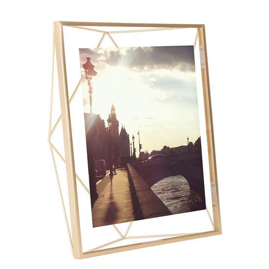 Porta Retrato Prisma 13X18 Cm Dourado Umbra