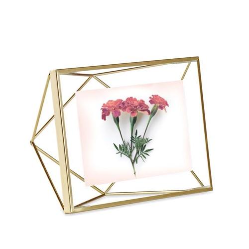 Porta-retrato Prisma Umbra Dourado - 10 X 15 Cm