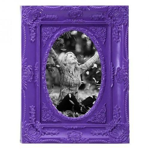 Porta-retrato Provençal Fleur Roxo 10x15cm