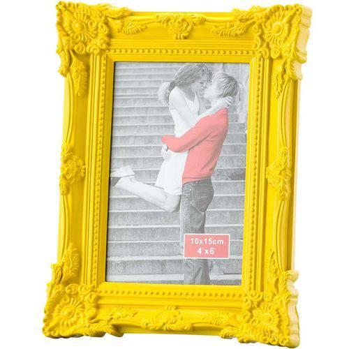 Porta Retrato Retrô 10x15cm - Lyor Classic Amarelo