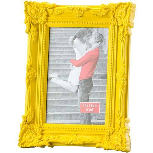 Porta Retrato Retrô 13x18cm - Lyor Classic Amarelo