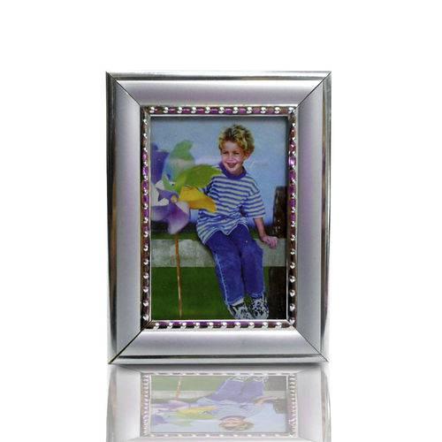 Porta Retrato Retrô 6cm X 9cm Prata